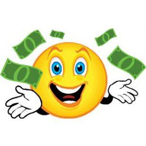 smileys avec argent