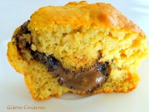 Muffins coeur fondant au chocolat