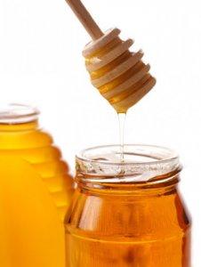 miel dans un pot