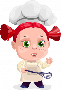 personnage femme cuisiniere