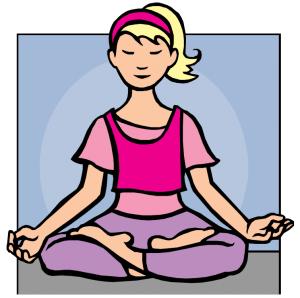 personnage femme meditation