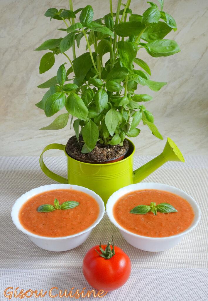 gaspacho arrosoir basilic