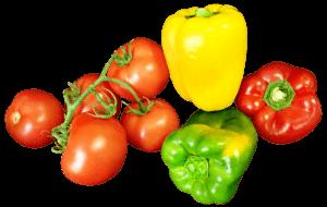 légumes tomates et poivrons
