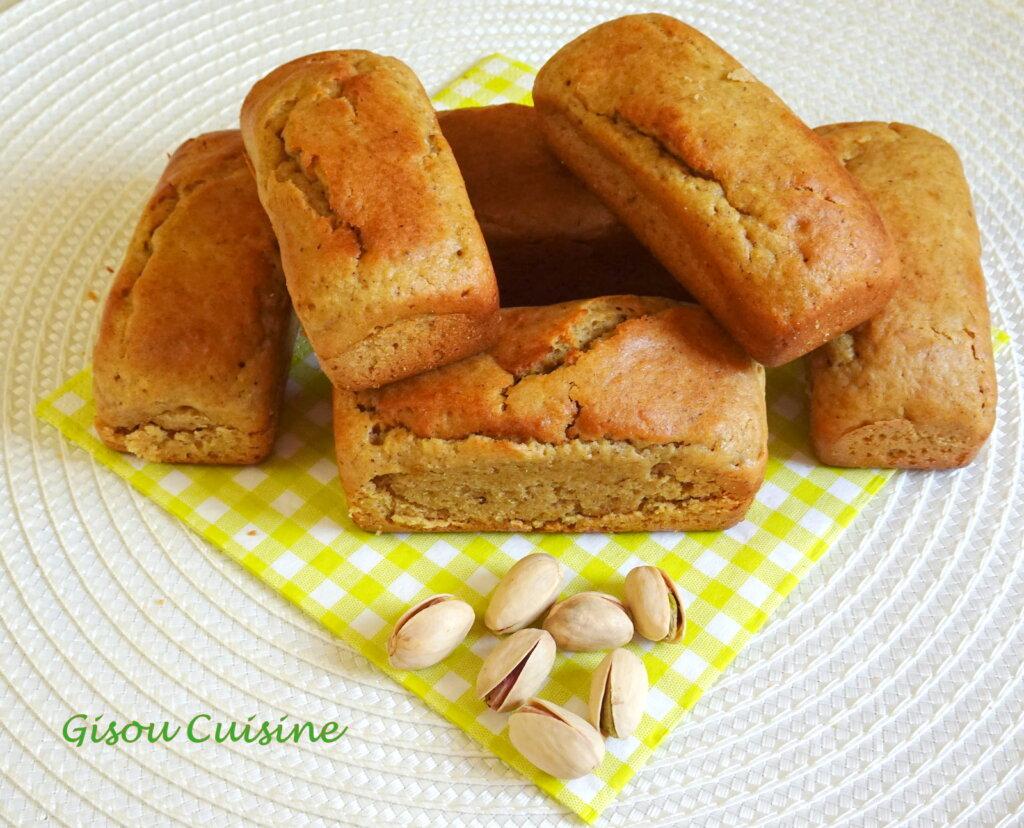 Petits cakes pistache sans oeuf