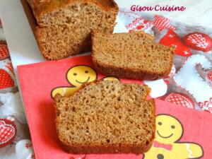 pain d'épice coupé en tranche