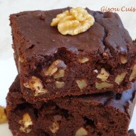Brownies chocolat noir et Haricots rouges