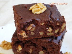 Brownies choco noix haricots rouge