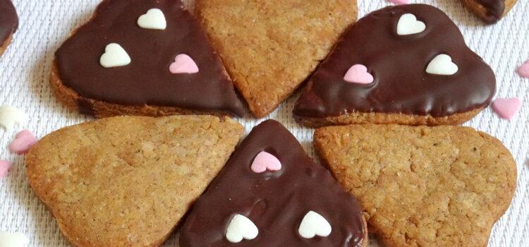 Coeurs croquants Noisette et chocolat