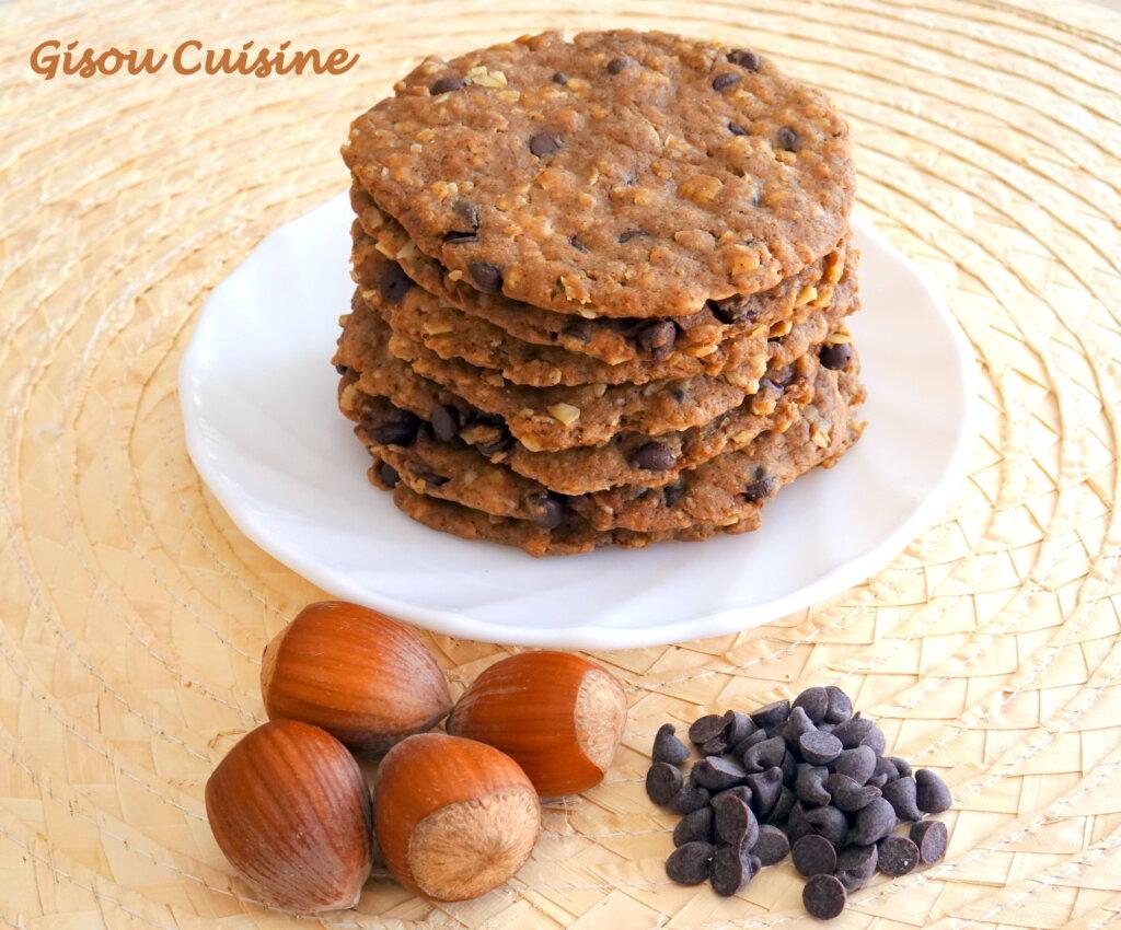 biscuits très fin aux pépites de chocolat