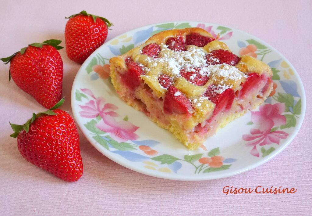 gâteau aux fraises et citrons