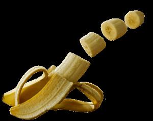 banane coupé en rondelle