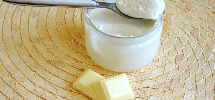 verrine de mousse crème coco