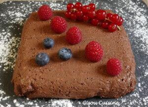 gâteau au chocolat avoine et lait de coco