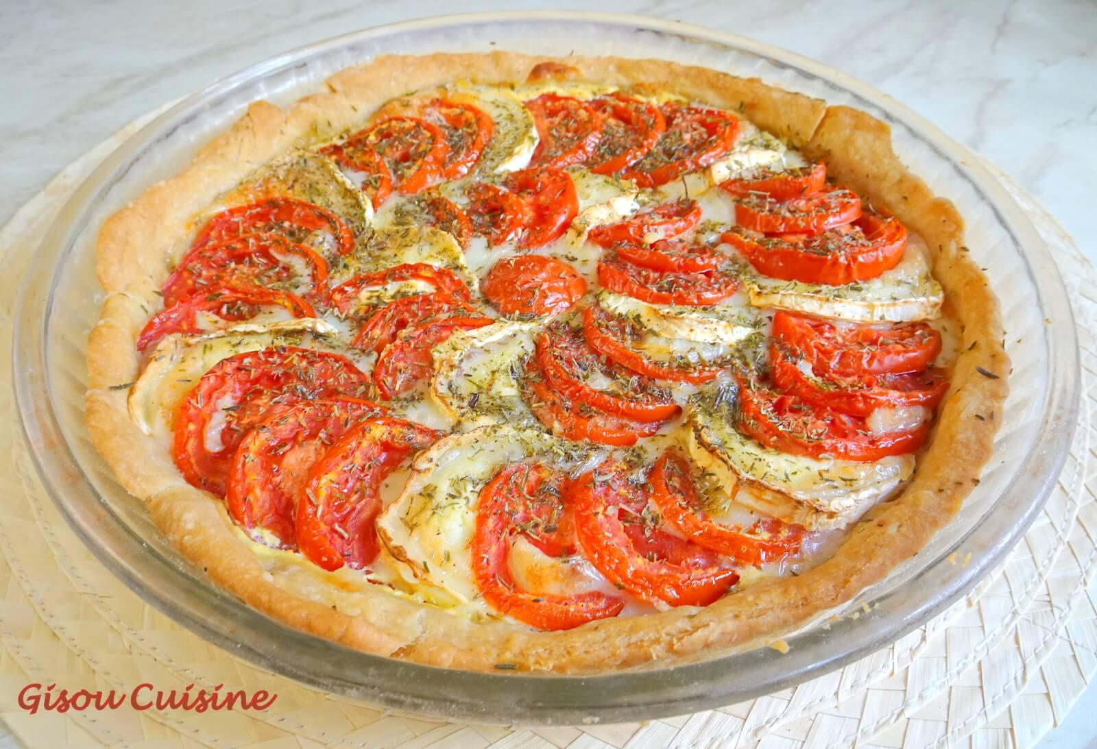 tarte tomate et fromage de chèvre