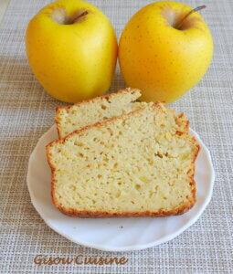 cake farine de riz aux pommes tranché