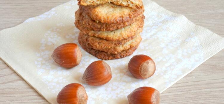 biscuits croustillants aux noisettes sans oeufs