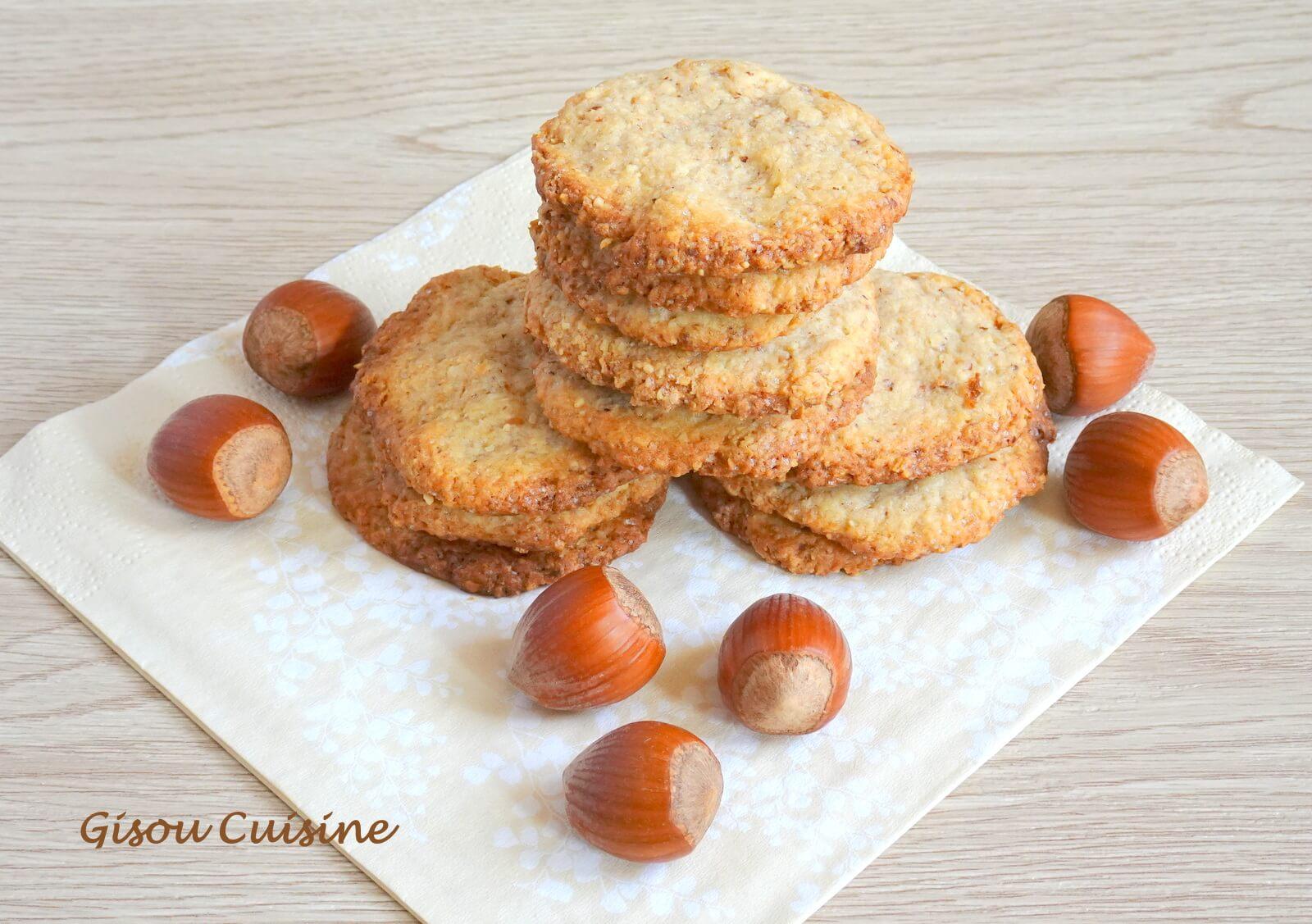 biscuits croustillant aux noisettes sans oeufs